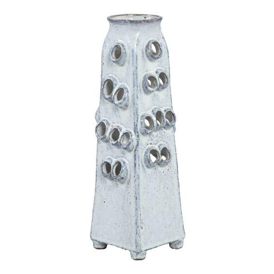 Vaso bianco ceramica Rave: vasi design PTMD
