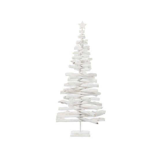 Albero di Natale Rami Legno Bianco H145