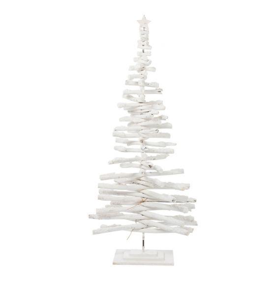 Albero di Natale Rami Legno Bianco H185