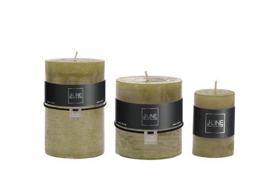 Candele verdi (verde erba) cilindriche: candele di cera colorate J Line