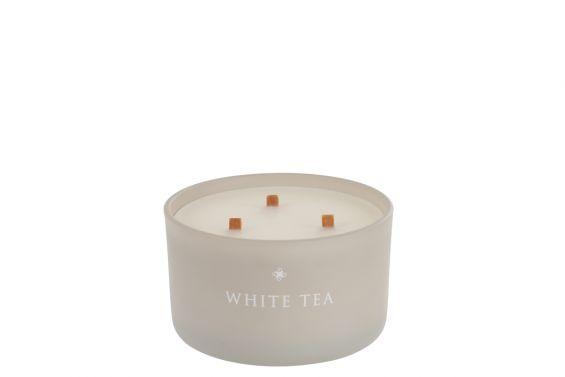 White Tea: candela profumata in vetro J Line