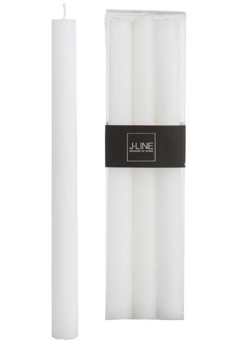 6 Candele bianche lunghe: candele di cera colorate J Line