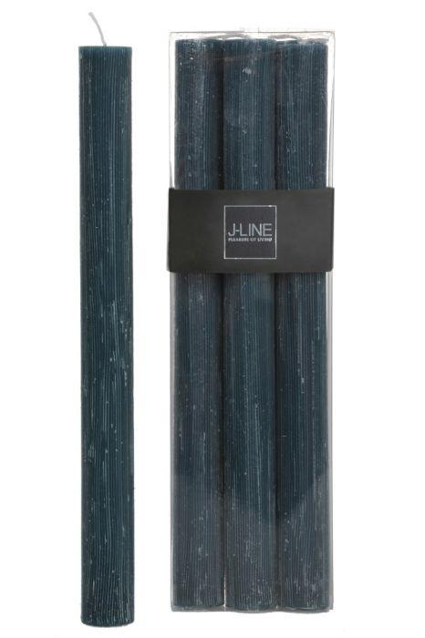 6 Candele verdi (verde petrolio) lunghe: candele di cera colorate J Line
