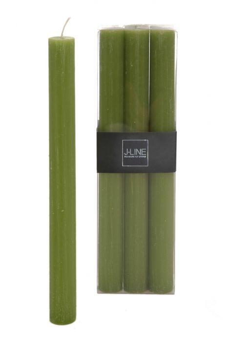 6 Candele verdi (verde erba) lunghe: candele di cera colorate J Line