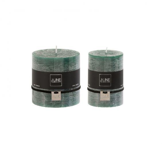 Candele verde scuro cilindriche : candele di cera colorate J Line