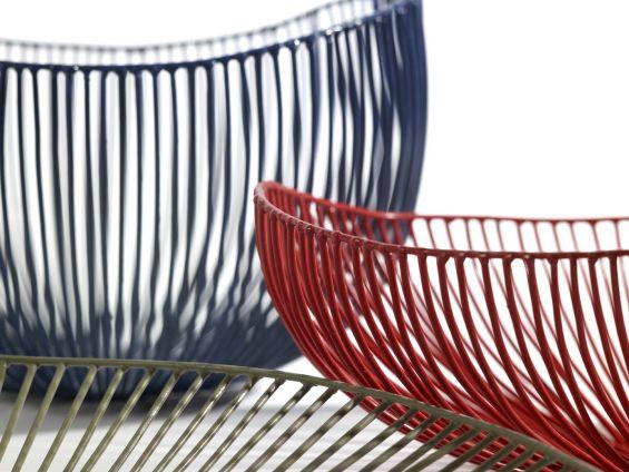 Centrotavola Sciortino design metallo 23x20xH16: cestino portafrutta Serax