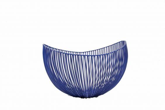 Centrotavola Sciortino design metallo 31x29xH21: cestino portafrutta Serax