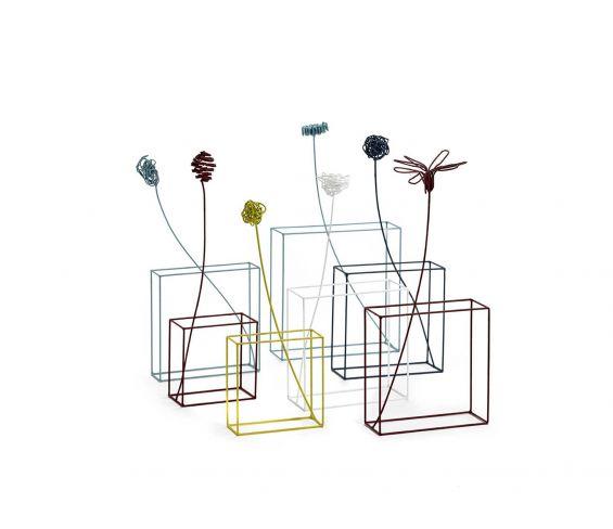 Ciuriddu Rettangolare : Fiore in metallo stilizzato design Antonino Sciortino