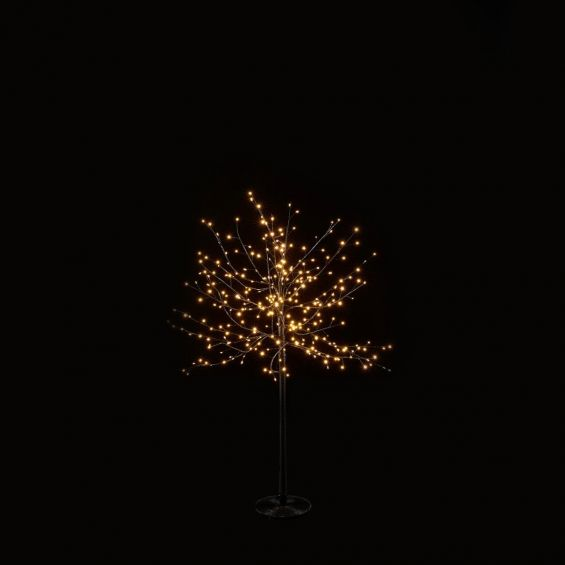 Albero di Faggio Luminoso tronco lungo H120CM con 300 Led : Decorazione Luminosa