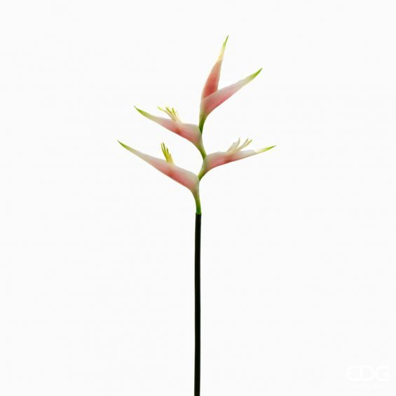 Ramo Eliconia artificiale rosa H75