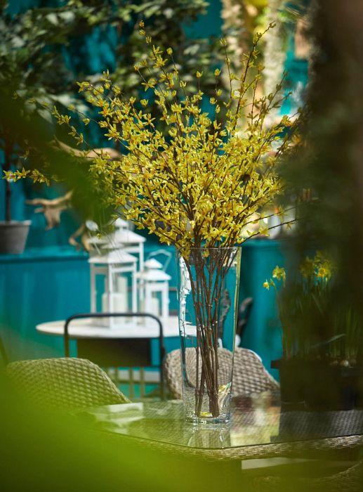 Cespuglio di Forsizia gialla: fiori artificiali di alta qualità