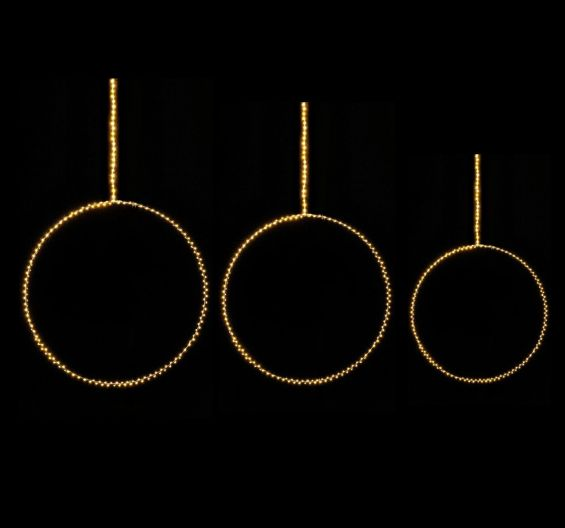 Cerchio Microled luce calda fissa
