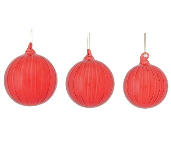 Palla Vetro Meridiane : Palline di Natale in vetro rosso