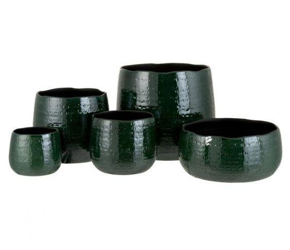 Vaso Motivo : Portavaso in ceramica smaltato verde
