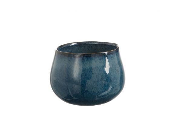 Vaso blu cachepot ceramica smaltata: vasi design J Line