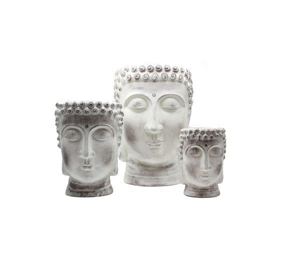 Vaso testa di Buddha