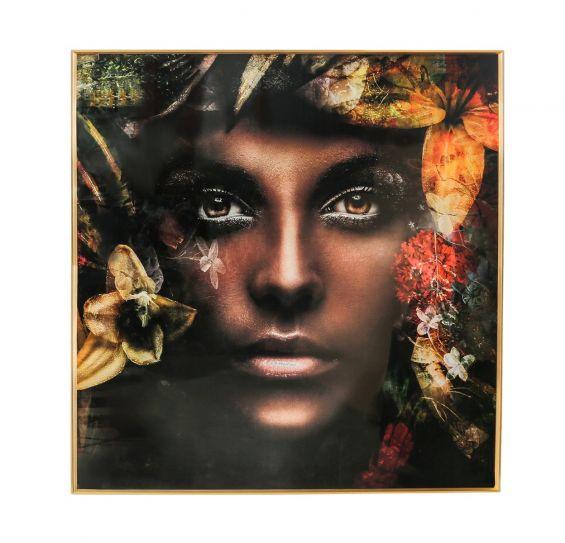 Quadro Melani Art Women nature | Quadro in vetro temperato con cornice in alluminio
