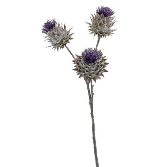 Ramo fiore di Cardo: fiori artificiali real touch