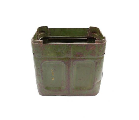 Cassetta verde militare in latta vintage stile industrial
