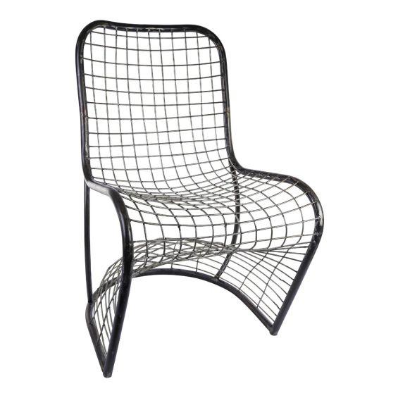 Sedia Kick Grey: sedia vintage in metallo design PTMD