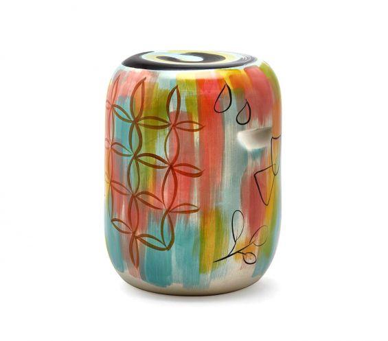 Sgabello Cilindro multicolor