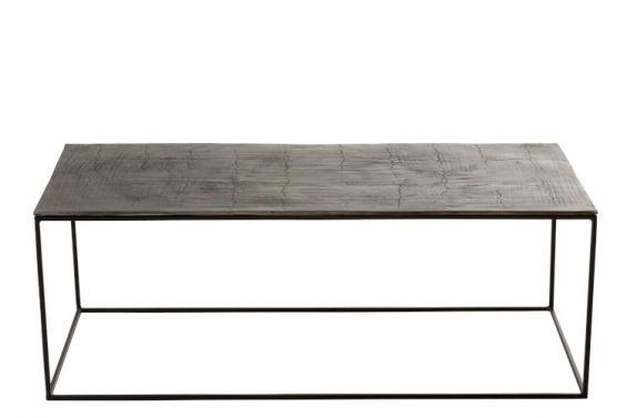 Tavolino da salotto Oxidize : Tavolino da divano in Alluminio e Ferro Nero/Verde