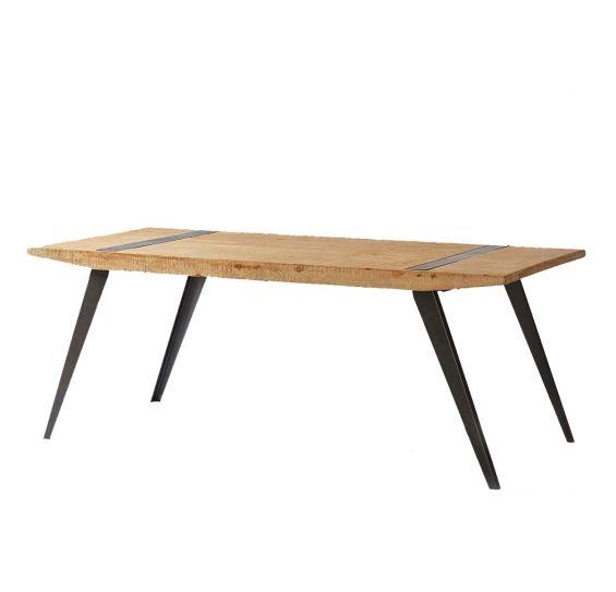 Tavolo Kurtis Light : Tavolo stile industriale in legno massello e ferro