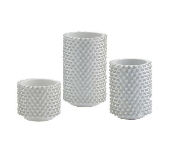 Vaso cilindro bianco ceramica Freaky:  vasi design EDG