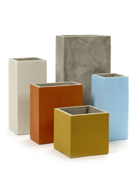 Cachepot Marie: vasi in cemento da esterno o da interno Serax