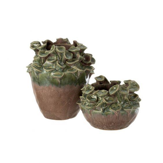 Vaso Blush : Vaso di design in ceramica verde/marrone