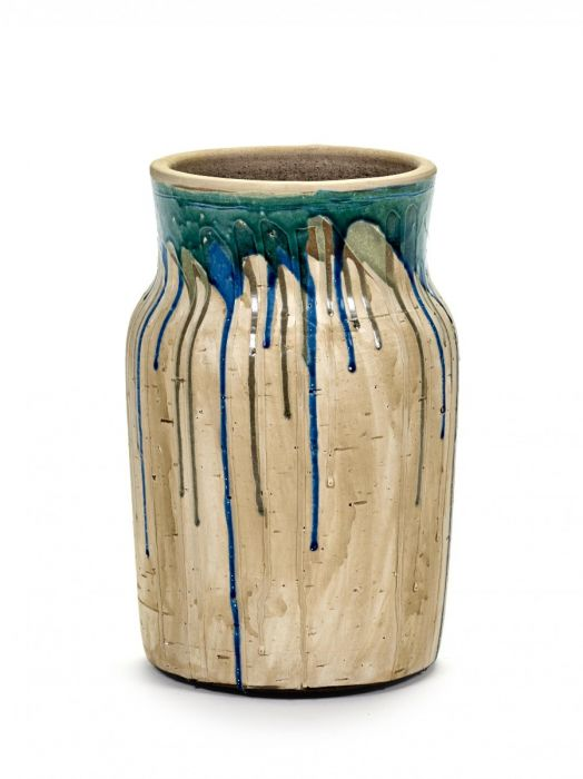 Vaso di terracotta Drops Alto Blu: vasi design Serax