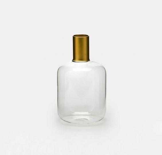 Vaso bottiglia collo Oro H22