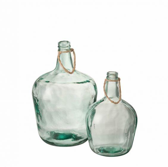Damigiana vetro: vasi vetro trasparenti design J Line