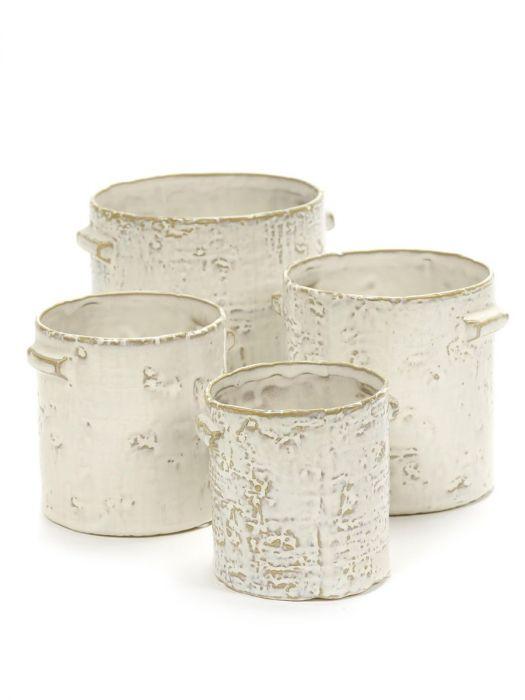 Vaso bianco ceramica Pentola: vasi design Serax