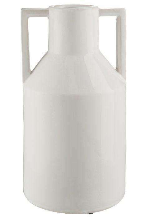Vaso bianco ceramica Anfora H38: vasi design J Line