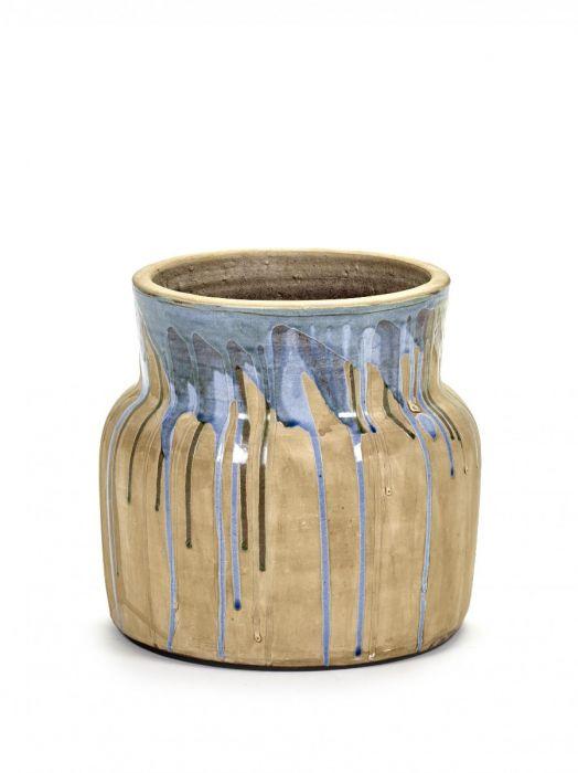 Vaso di terracotta Drops Low Blu: vasi design Serax