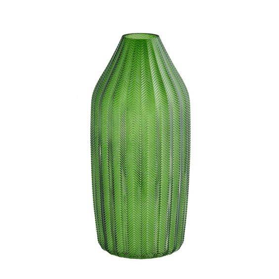 Vaso verde H40: vasi in vetro trasparenti design EDG