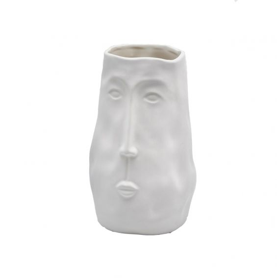 Vaso Volto bianco in ceramica H24