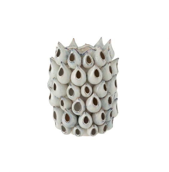 Vaso Anemone Alto in ceramica blu : vasi design particolari per interno