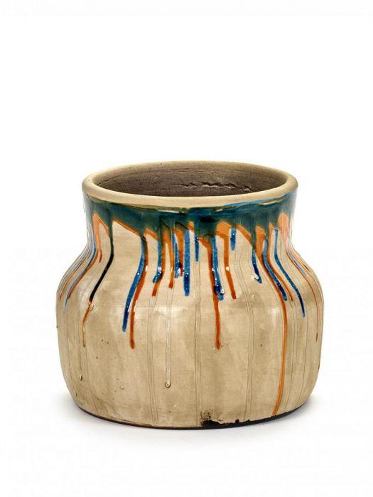 Vaso di terracotta Drops Low: vasi design Serax
