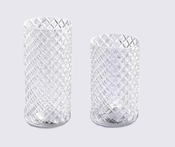 Vaso cilindro motivo Rombi