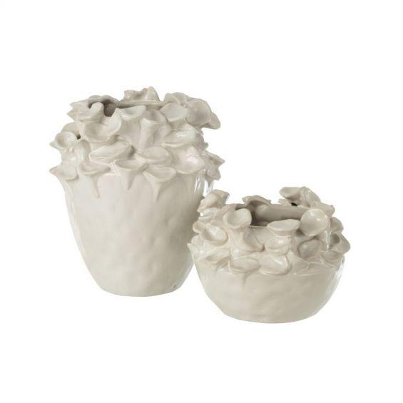 Vaso Ibiza : Vasi di design in ceramica bianca