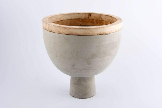 Vaso cemento e legno Combi: vasi in cemento design D&M