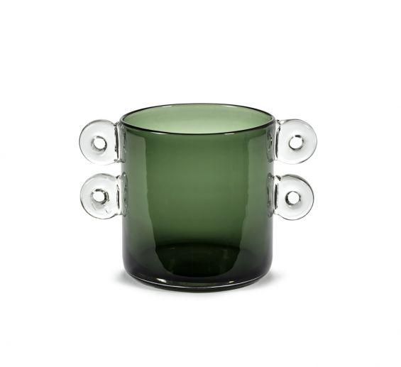 Vaso Wind & Fire Dark Green H18