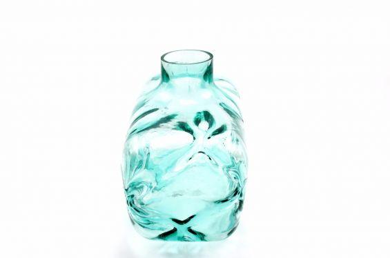 Vaso azzurro Loyal: vasi in vetro trasparenti design PTMD