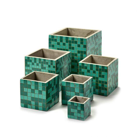 Vaso Marie Mosaico Green : Vasi in cemento design Marie Michielssen