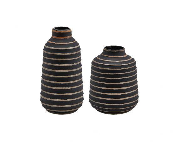 Vaso Righe Oro Nero : Vasi di design in vetro