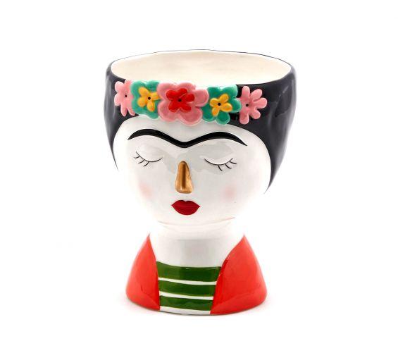 Vaso porta piante Frida Kahlo H19 Ø15