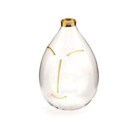 Vaso Viso Goccia : Vasi di design in vetro
