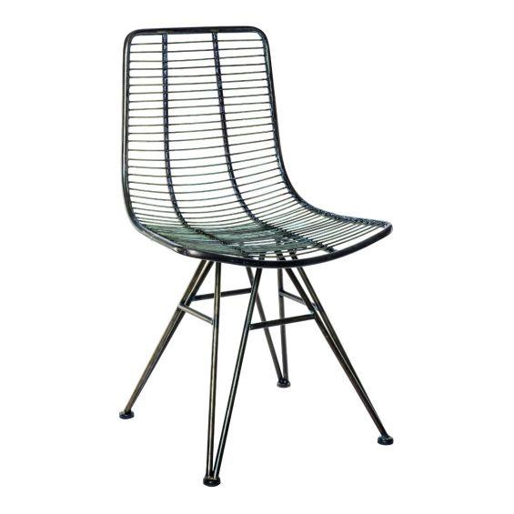 Sedia in metallo Wire : Sedie di design in metallo